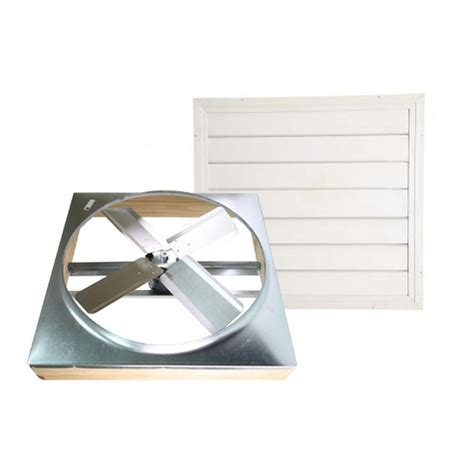 whole house fan shutter cool attic 24 in direct drive whole house fan with 1498