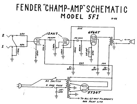 Fender Champ Tube Amp Schematic Guitar