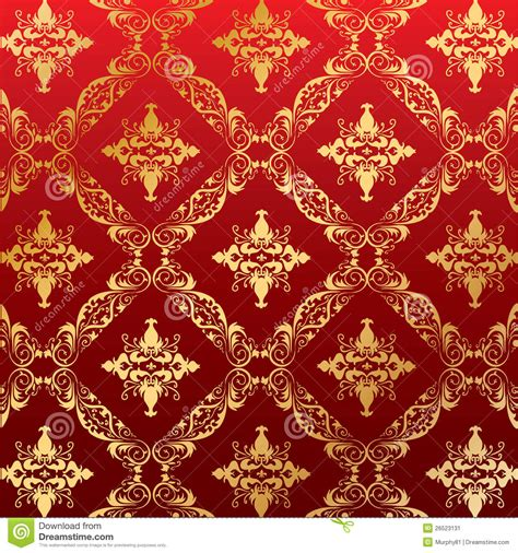 Floral Red Curtains by Royal Seamless Pattern Floral Wallpaper Stock Vector