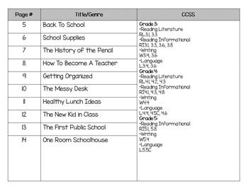 reading comprehension passages upper elementary back to school tpt