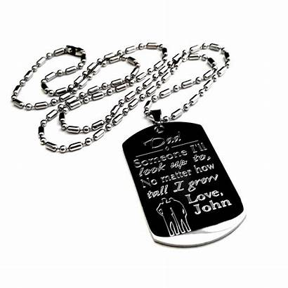 Dog Tag Personalized Necklace Father Uniqjewelrydesigns Previous