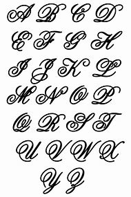 Alphabet Letters Different Styles Of Writing