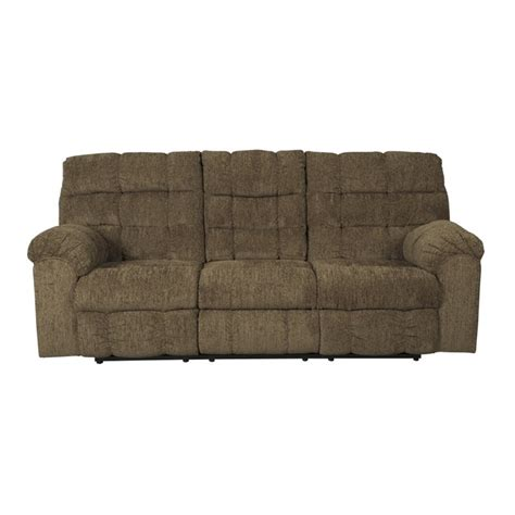 reclining sofa with drop down table ashley antwan reclining sofa with drop down table in