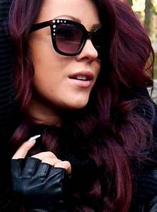 Deep red violet hair color in 2016, amazing photo ...