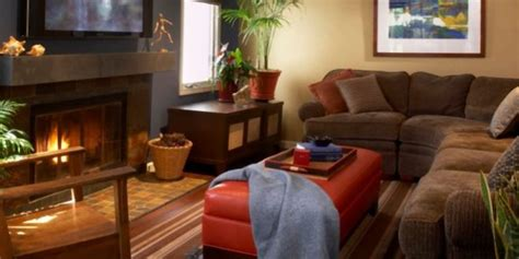 living room  comfortable  winter