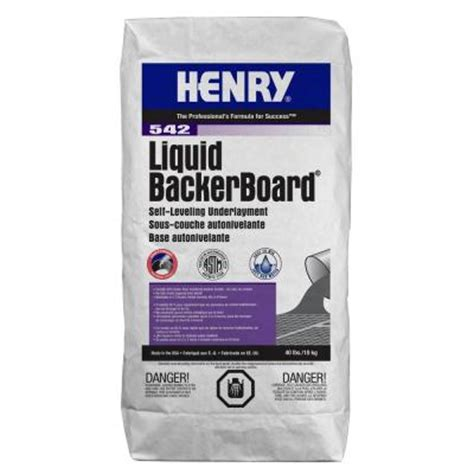 Liquid Floor Leveler by Henry 542 Liquid Backer Board 40 Lbs Self Leveling