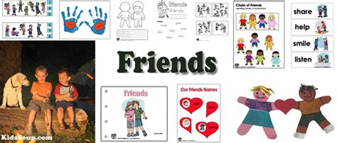 friendship crafts activities and printables 630 | Friends activities crafts preschool