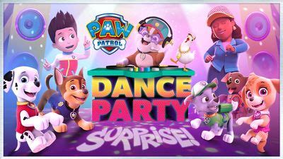 paw patrol dance party surprise