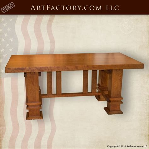 Custom Craftsman Style Table Frank Lloyd Wright Inspired