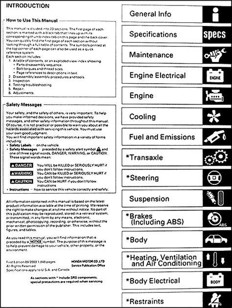 buy car manuals 2003 honda civic user handbook new original honda civic shop manual 2001 2002 2003 2004 service hx dx lx ex vp ebay