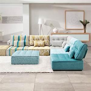 le canape modulaire bas salon inspirations With nettoyage tapis avec canape modulaire
