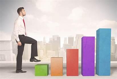 Business Grow Concept Start Climbing Chart Company