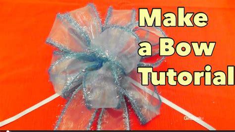 diy   bow tutorial giftbasketappeal youtube
