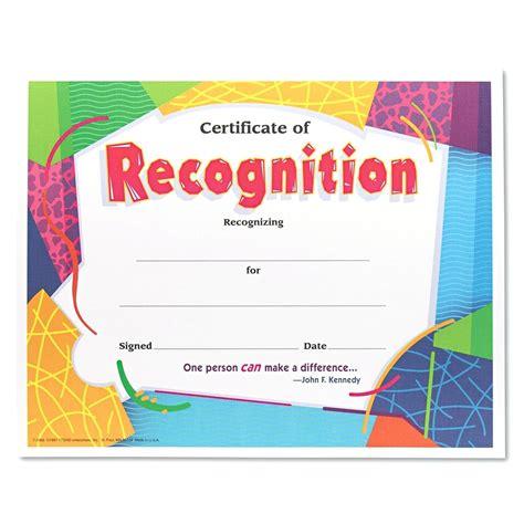 Sample Certificate Of Recognition For Kinder Lazinenet