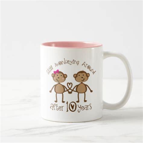 10th wedding anniversary gift 10th wedding anniversary gifts mugs zazzle