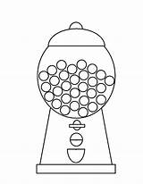 Gumball Machine Gum Coloring Bubble Pages Drawing Template Printable Empty Outline Clipart Drawings Sheet Bubblegum Getdrawings Sketch Paintingvalley Getcolorings Colo sketch template