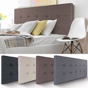 Tete De Lit Tissu : t te de lit capitonn e en tissu 160x58 cm taupe ~ Premium-room.com Idées de Décoration