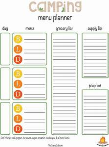 Download daily camping menu planner template for free for Camping menu planner template