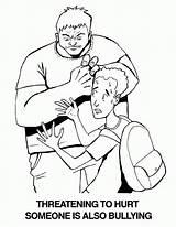 Coloring Bullying Anti Popular sketch template