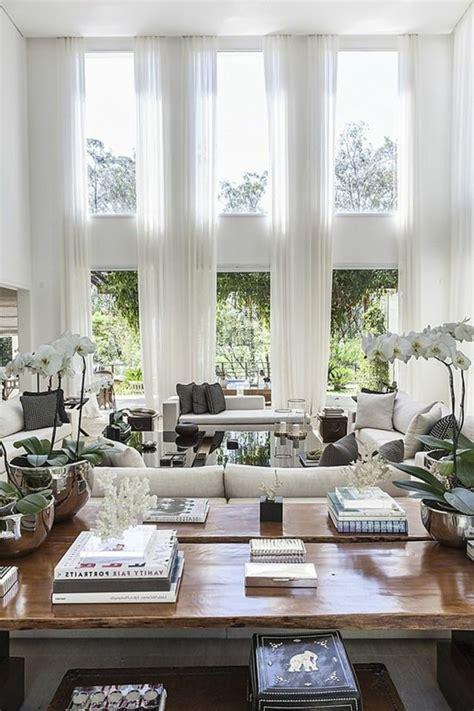 gardinen fuer wohnzimmer eine durchsichtige dekoration
