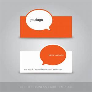 Die cut business card template vector free download for Die cut business card templates