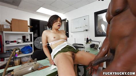 milcah halili in interracial sex on the working table