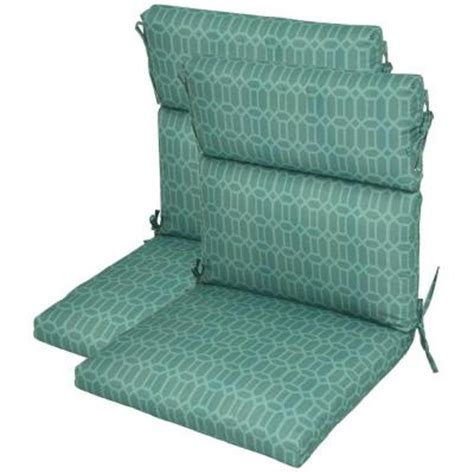 hton bay rhodes trellis high back outdoor chair cushion