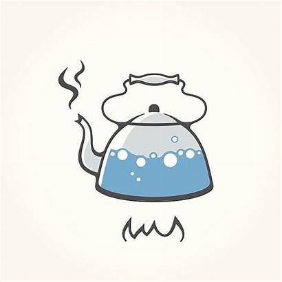 Kettle Water Boiling Clipart Fire Tea Hirviendo