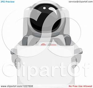 Clipart of an Astronaut in a Space Suit, Holding a Sign ...
