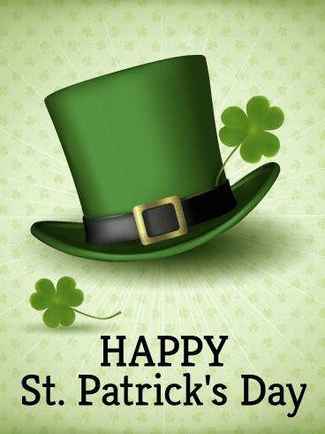 leprechaun hat st patricks day card birthday