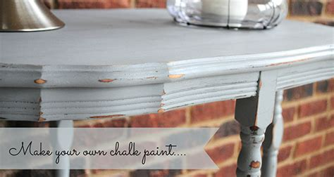 chalk paint diy refinished  table