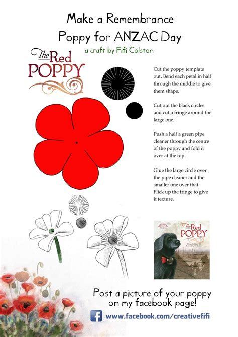 fifi colston creative remembrance poppy template