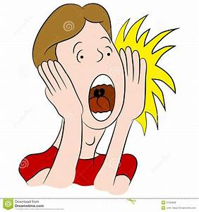 Shouting Man Cartoon stock vector. Image of biting, vector ...