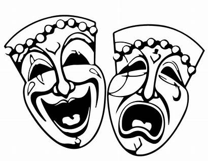 Coloring Comedy Tragedy Mardi Gras Pages Mask