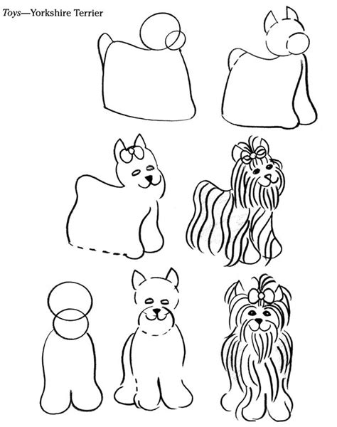 44 best Yorkie Outline Tattoo images on Pinterest