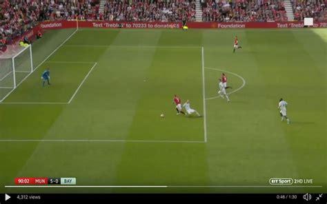 video beckham scores superb solo goal  united legends