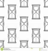 Hourglass Coloring Seamless Pattern Books Vector Cartoon sketch template