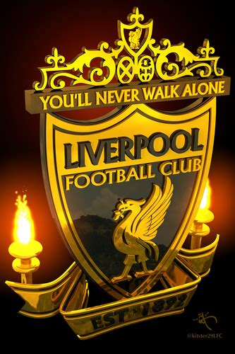 Liverpool FC Logo Gold