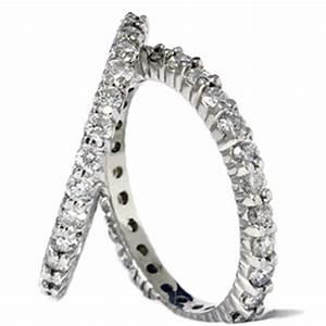 2ct diamond eternity stackable wedding rings set 14k white With stackable wedding ring sets