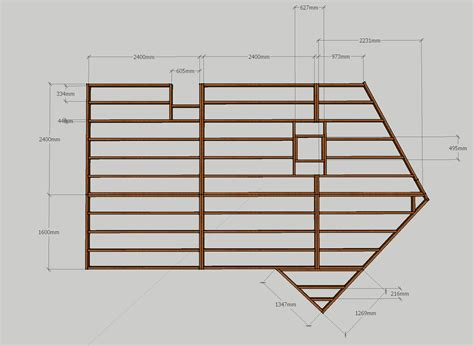 Deck Footing Spacing And Layout by Free Standing Deck Joist Layout Home Improvement Stack