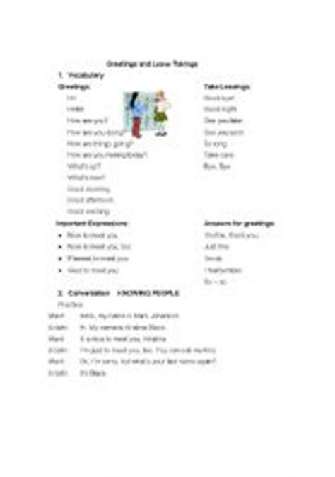 english worksheet   leave takings