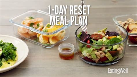 day reset meal plan   eatingwell