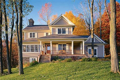 Country Home Plan With Solarium