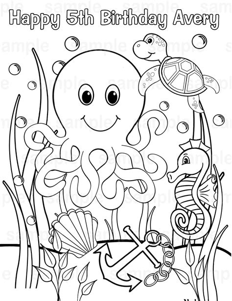 sea coloring pages    print