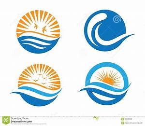 Ocean Beach Wave Logo Stock Vector - Image: 60506334 | { L ...