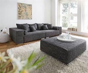 Big Sofa Mit Hocker : big sofa marbeya 280x115 cm schwarz couch mit hocker wohnzimmer ~ Yasmunasinghe.com Haus und Dekorationen