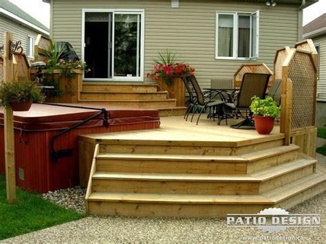 patio designs patio avec spa realise par patio design
