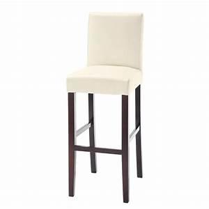 Tabouret Haut Maison Du Monde : chaise de bar en tissu et bois teint blanche boston maisons du monde ~ Teatrodelosmanantiales.com Idées de Décoration