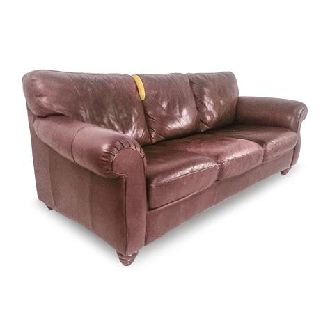 85% Off  Natuzzi Natuzzi Brown Leather Couch Sofas