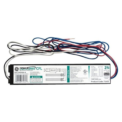 fluorescent light ballast replacement ge electronic ballast for 2 or 1 l compact fluorescent